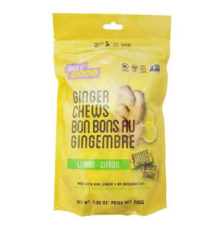 Ginger Chews Lemon 200g Saygood