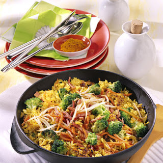 Curry Fried Rice with Ham.