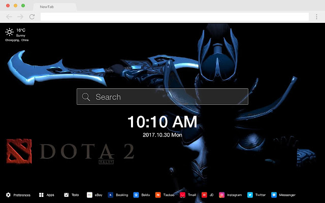 Dota 2 Pop HD Games New Tabs Themes