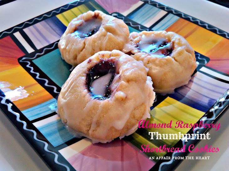 Almond Raspberry Shortbread Thumbprint Cookies Recipe | Yummly