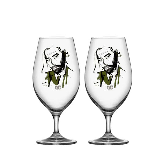 Kosta Boda All About You Ölglas 2-pack Want Him