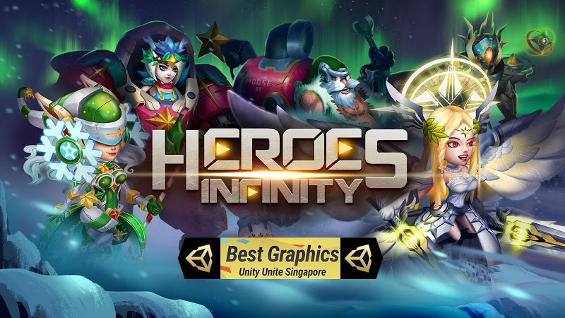 Heroes Infinity: God Warriors -Action RPG Strategy Screenshot 1