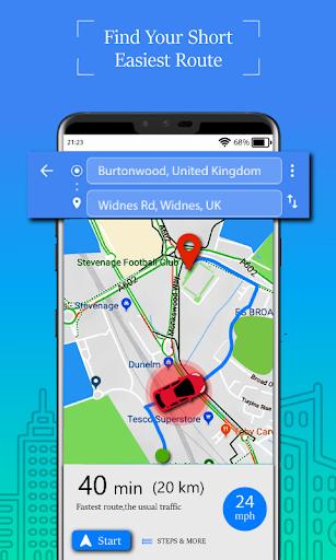 Voice GPS Driving Route : Gps Navigation & Maps screenshot 1