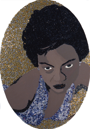 Mickalene Thomas Eartha Kitt artwork