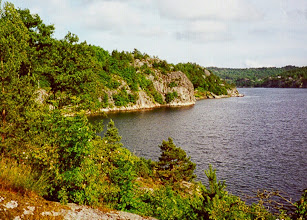 Photo: The cove looking southeastward where the new ships would be floated