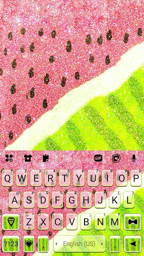 Glitter Watermelon Keyboard Background screenshot 5