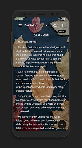 Pure Writer - Never Lose Content Editor & Markdown Apk 2
