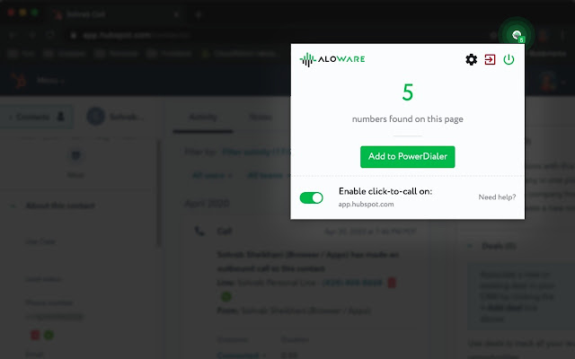 Aloware Click-To-Call