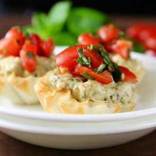 Mini Tomato Pesto Tarts.