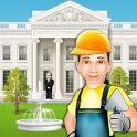US President House Builder: Construction Simulator icon