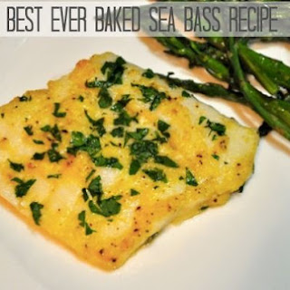 The Best Baked Sea Bass.