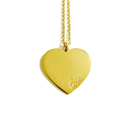 "collier Grand coeur ""love"""