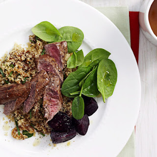 Spiced Lamb with Fig and Onion Couscous