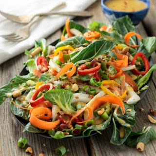 Bok Choy Salad with Spicy Asian Vinaigrette