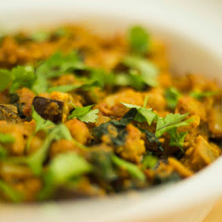 Nutty Eggplant, Chickpea and Kale Curry Recipe