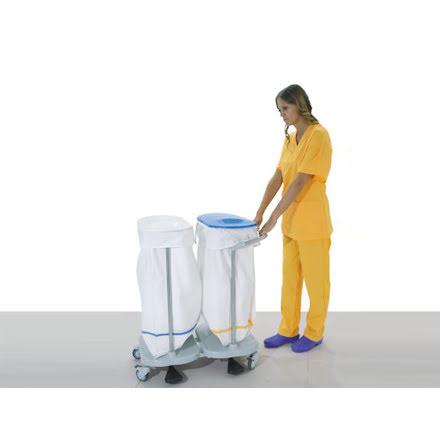 Säckhållare för sjukvården - 2 Påsar