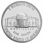 Descrição: Moeda americana de cinco centavos