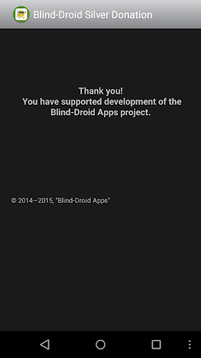 Blind-Droid Silver Donation