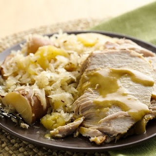 Slow-Cooker Pork Roast and Sauerkraut Dinner.