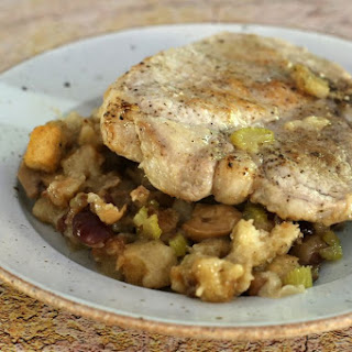 Crock Pot Pork Chops With Stuffing and Potatoes.