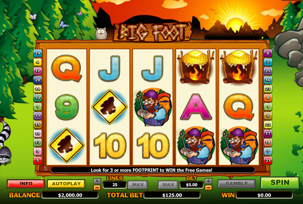 Bigfoot Slots Game Review