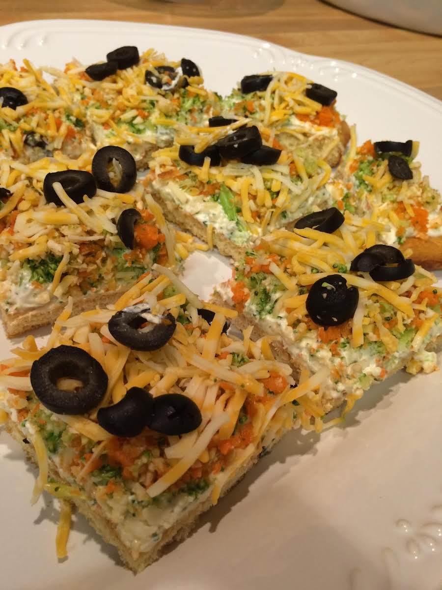 Cold Veggie Pizza Recipe Just A Pinch Recipes