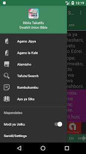 Biblia Takatifu, Swahili Bible Offline - náhled