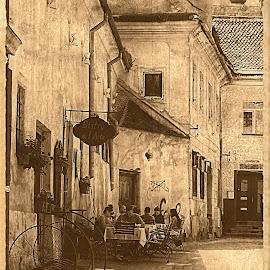 by Bogdan Berbec - City,  Street & Park  Street Scenes ( sepia, streets, street )