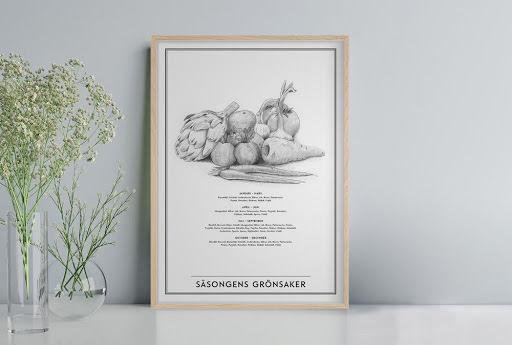 Säsongens grönsaker affisch