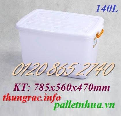 Thùng nhựa thủy hải sản 140 lít