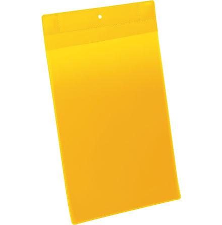 Plastficka Plus A4S magnet gul