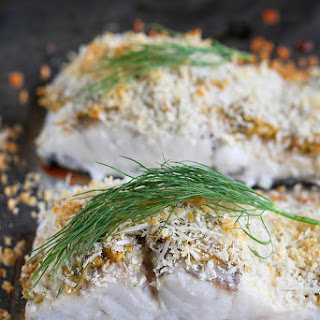 Hummus-Crusted Baked Fish Recipe {Barramundi}