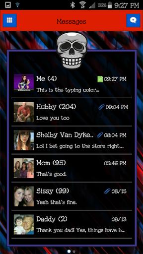 GO SMS THEME - Skull Freak 2