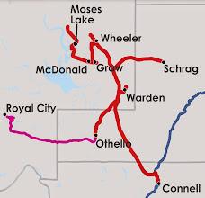 Photo: Map of Columbia Basin Railroad
