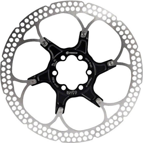 Formula Disc Rotor, 6-Bolt - 180mm, Alloy Carrier - Black