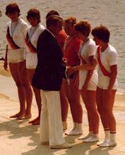 Photo: 1978 Beograd. Juniorverdensmesterskaberne. Guld: Sovjetunionen Sølv DDR Bronze Danmark med Lise Justesen og Charlotte Hansson, Odense Roklub