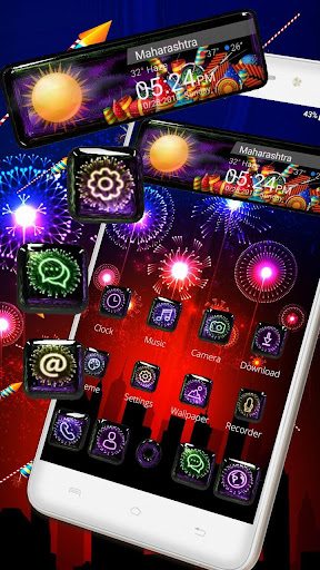 3D Happy 2018 Diwali Glass Themeud83dudca3 1.1.1 screenshots 3