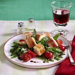 Bacon-Wrapped Feta with Arugula