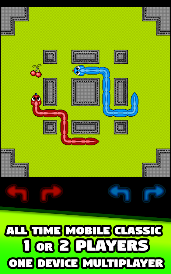 Two Snakes 1 or 2 Player Snake- screenshot