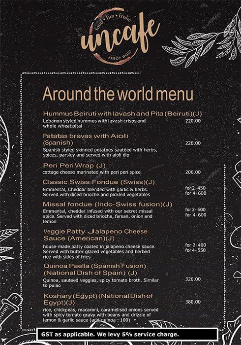 Uncafe menu 14