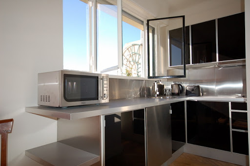 Basic kitchenette at Studio apartment near Eiffel Tower