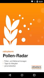 ratiopharm Pollen-Radar Screenshot
