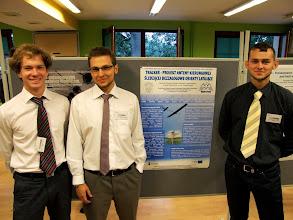 """Photo: Oto cześć zespołu High Flyers prezentująca jeden z projektów pt. """"Tracker - projekt automatycznego systemu śledzenia obiektów"""" podczas konferencji """"Diagnostics of Processes and Systems 2013""""!"""