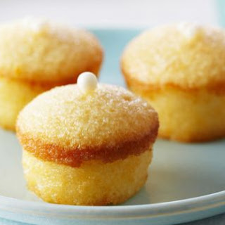 Mini Lemon Chiffon Cakes with Lemon Crystal Glaze