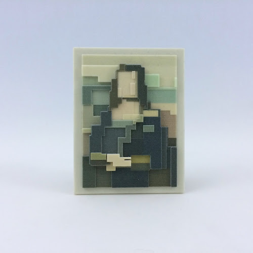Mona Lisa in eight bits and three dimensions