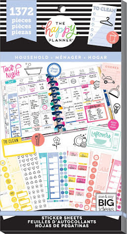 Me & My Big Ideas Happy Planner Sticker Value Pack - Household 1372
