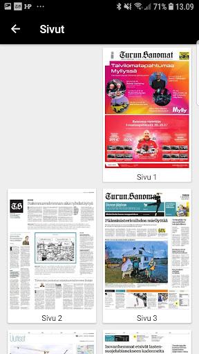 Turun Sanomat näköislehti screenshot 4