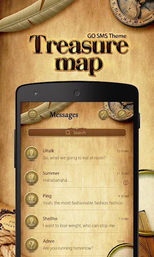 FREE-GO SMS TREASURE MAP THEME
