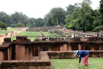 Photo: Year 2 Day 44 -   View of the Terraces at Angkor Thom