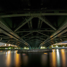 Bridge at night by Irfan Maulana - Buildings & Architecture Bridges & Suspended Structures